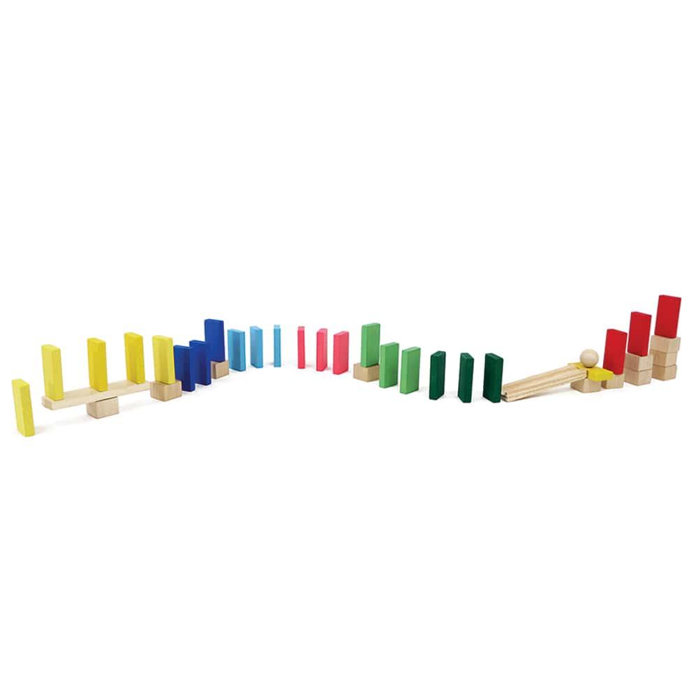 Brinquedo Criativo Efeito Dominó - 38 peças