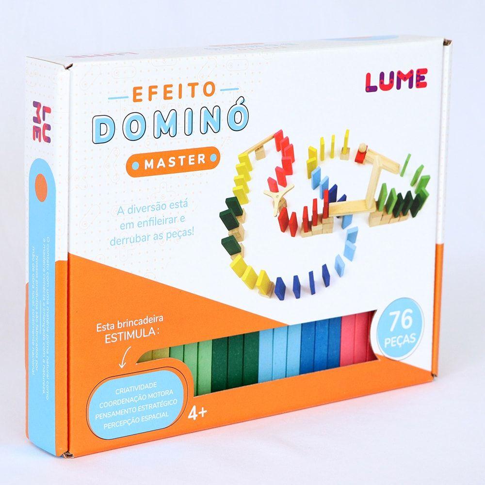 Brinquedo Criativo Efeito Dominó Master - 76 peças