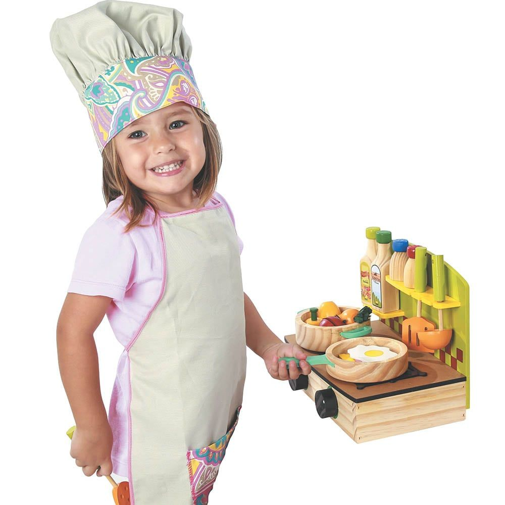 Fogão Infantil - Cooktop de madeira