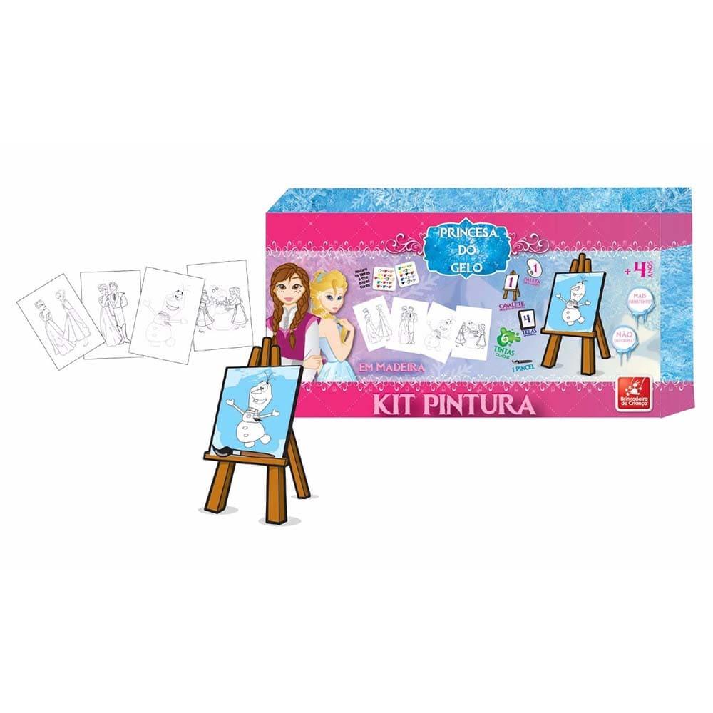Kit De Pintura Em Tela Princesa Do Gelo – Brincadeira De Criança