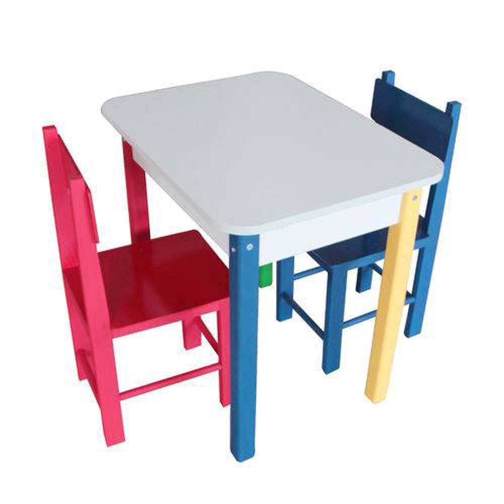 Mesa Madeira com 2 cadeiras 60x60cm Carlu