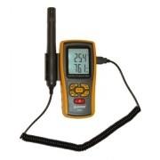 Medidor de Temperatura e Umidade com sonda externa e entrada para termopar - KR861