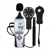 Termo-Higro-Decibelimetro-Luxímetro-Anemômetro Digital - THDLA-500 + Certificação Rastreavel ao INMETRO/RBC