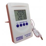 Termômetro Digital de Máxima e Mínima com Sonda Externa - FOR-200