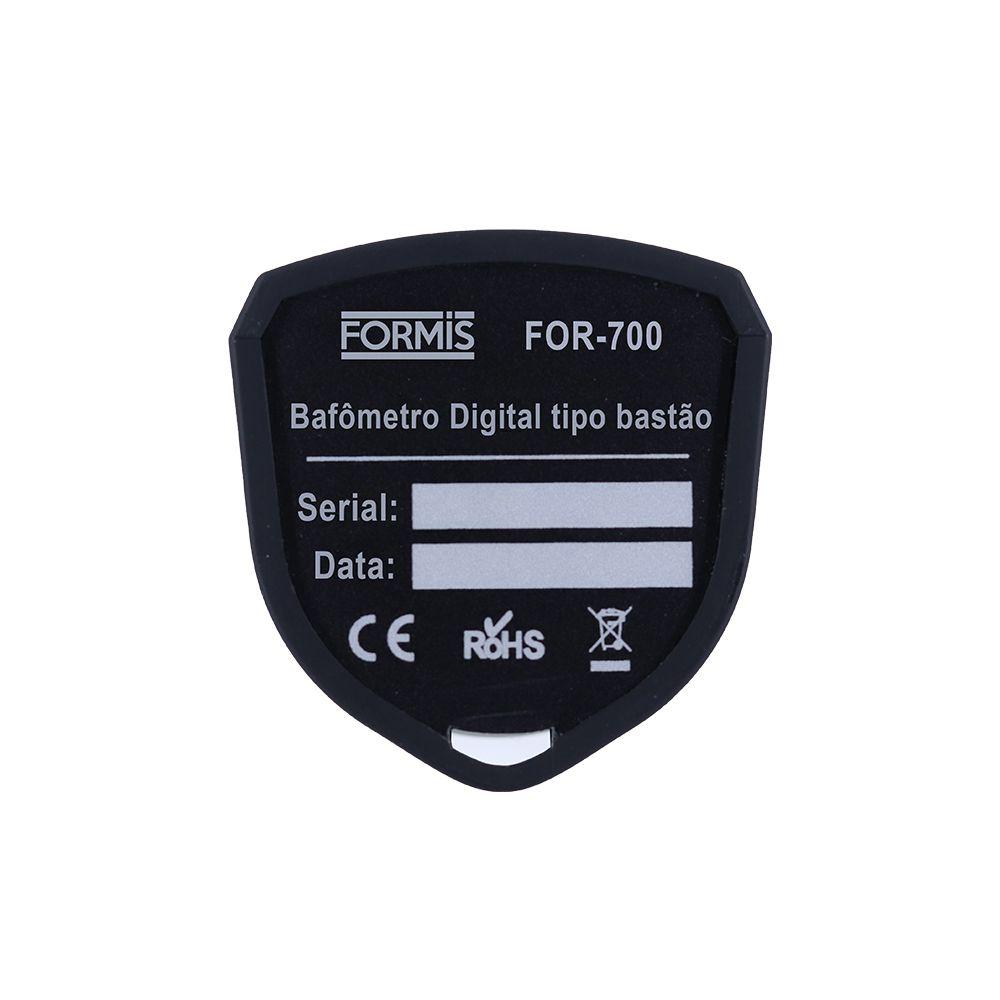 Bafômetro Digital tipo bastão para triagem rápida com saída USB - FOR-700
