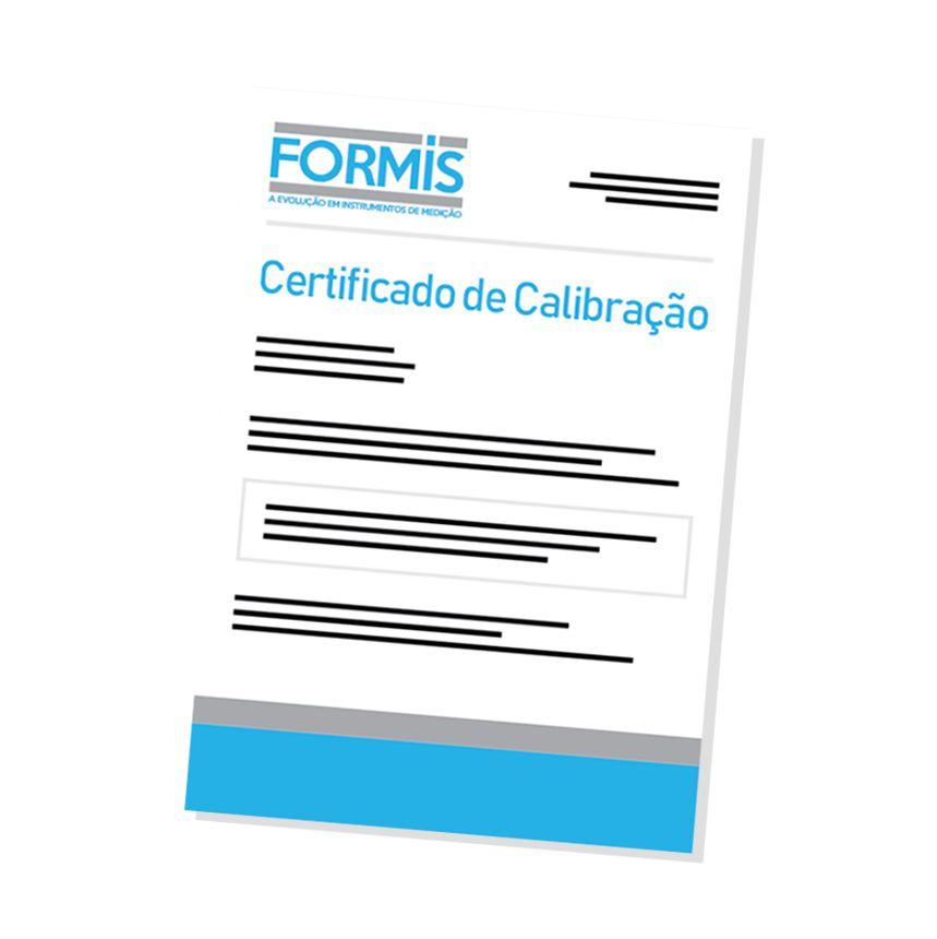 Certificado de Calibração para Medidor de Vibração