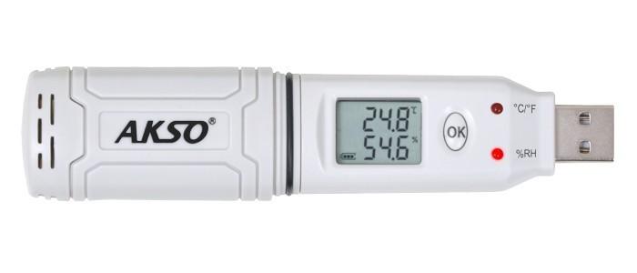 Datalogger de Temperatura e Umidade à Prova D'Água - AK174