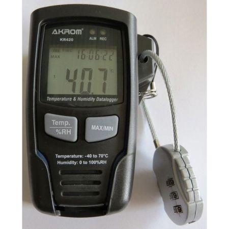 Datalogger de Temperatura e Umidade cpm conexão USB - KR420