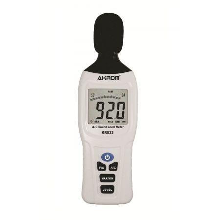 Decibelímetro Digital com Ponderação em frequência A/C - KR833
