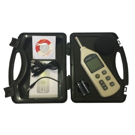 Decibelímetro Digital dBA/dBC com datalogger e interface USB (4700 Registros) - KR843
