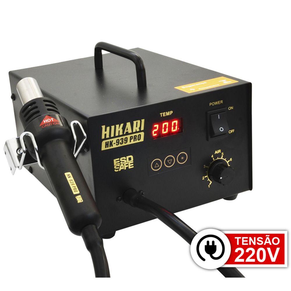 Estação de Retrabalho em SMD digital - HK-939 PRO 220V