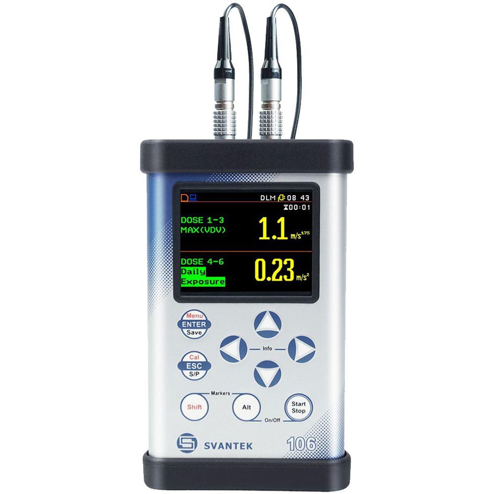 Medidor de Vibração do Corpo Humano - SV 106 + Certificação Acreditada ao INMETRO/RBC