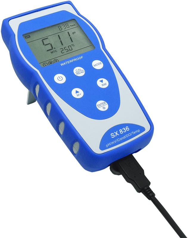 Medidor Multiparâmetro Portátil (pH/Cond/OD/Temp) - SX836