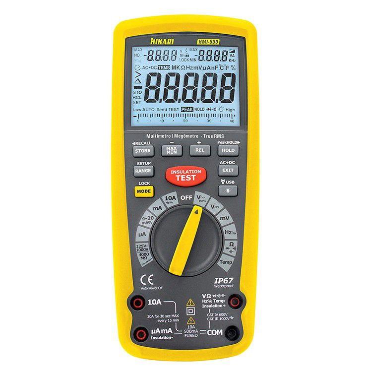 Megômetro Digital - HMI-600