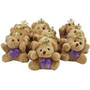 30 Lembrancinhas Chaveiro Ursa Acompanha Organza - Menina