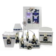 Combo Porta Maternidade + Kit Higiene + Mobile - Rei/Azul