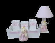 Kit Higiene Bandeja com 5 peças  Decoração Quarto De Bebê Infantil