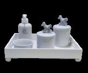 Kit Higiene Porcelana Cavalinho Prata