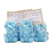 Lembrancinha Sabonete Ursinho com Tag - Azul