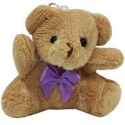 Lembrancinha Ursa Chaveiro - Com Laço Lilás