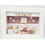 Quadro maternidade provençal ursa  decoração quarto bebê infantil-Nitababy