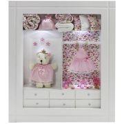 Quadro Porta Maternidade Closet - Floral Rosa