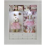 Quadro Maternidade Closet   provençal escuro com nome  decoração bebê-nitababy