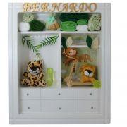 Quadro  Maternidade Closet Safari com nome decoração quarto bebê infantil -Nitababy