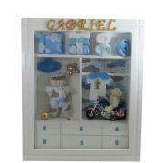 Quadro  Maternidade Closet  azul boneco com nome decoração bebê -nitababy