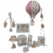 Quadro Porta Maternidade,kit HIgiene,Mobile ,Luminaria Balão.Tudo