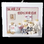 Quadro Porta Maternidade Personalizado - Rosa Família