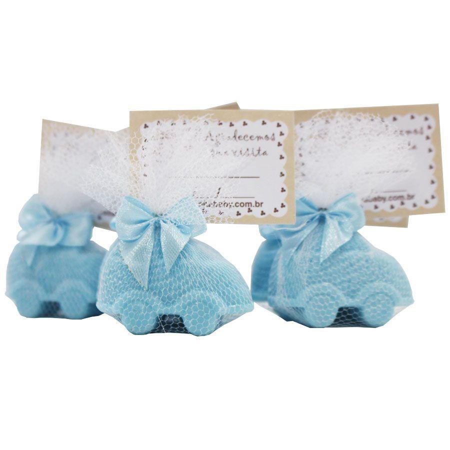 30 Lembrancinhas de Maternidade Sabonete Cheiro de Neném - Azul