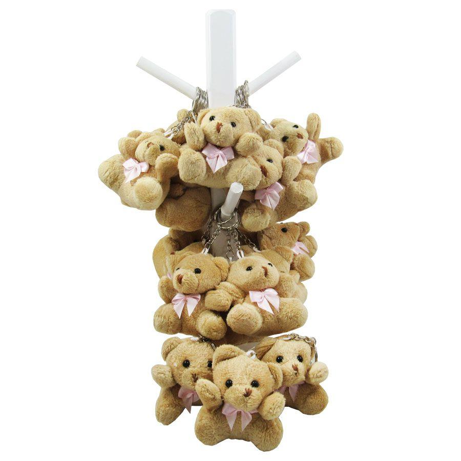 30 Lembrancinhas de Maternidade - Ursa Chaveiro Menina