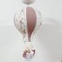 Lustre Bebê De Teto  Tecido Floral Com Rosa  Chá  Menina