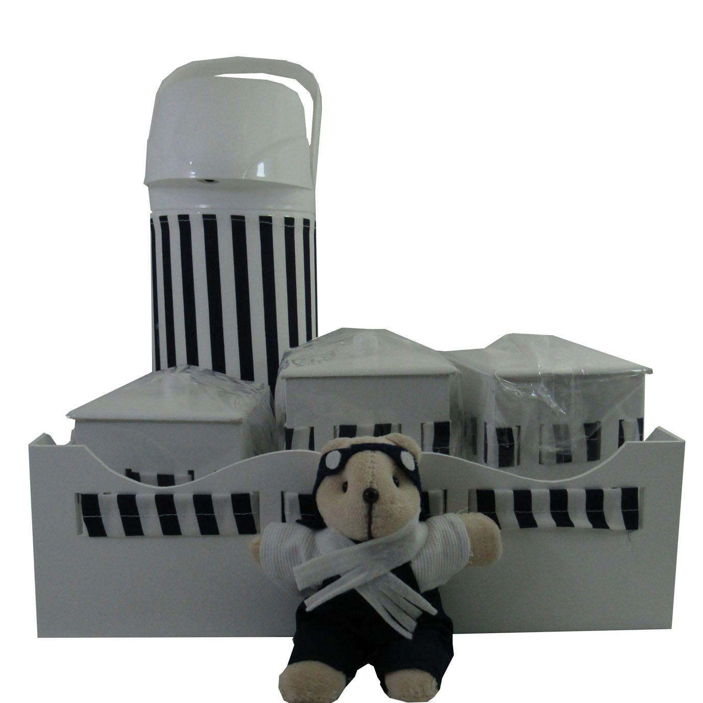 Decoração Completa - Urso Aviador