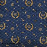 Tecido teste: Coroa azul marinho