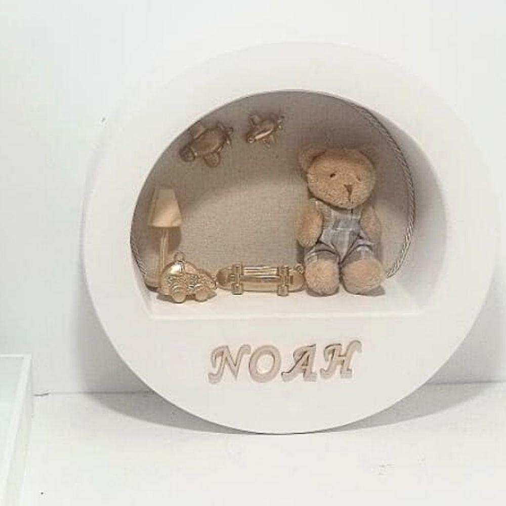 Kit Bebe Porcelana Com 5 Peças Mais Quadro Maternidade Personalizado Com Nome