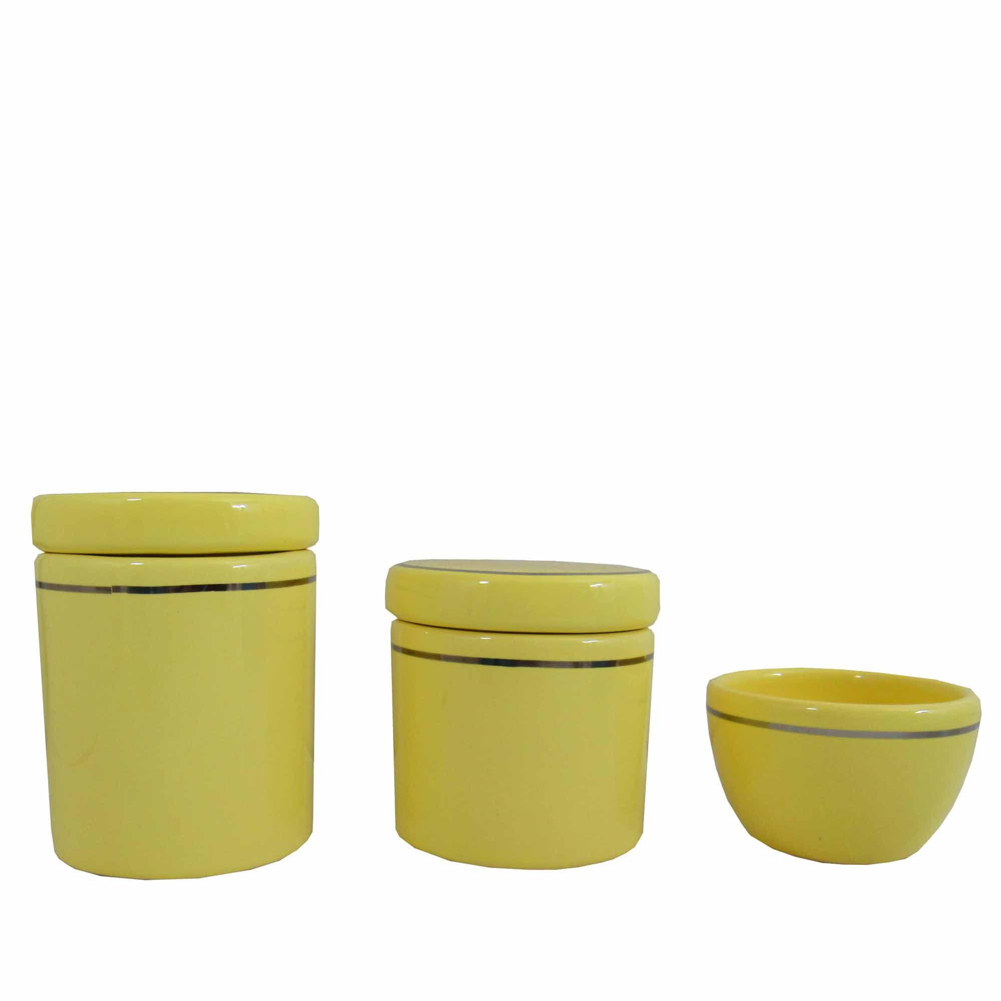 Kit Higiene de Porcelana Menina - 3 Peças