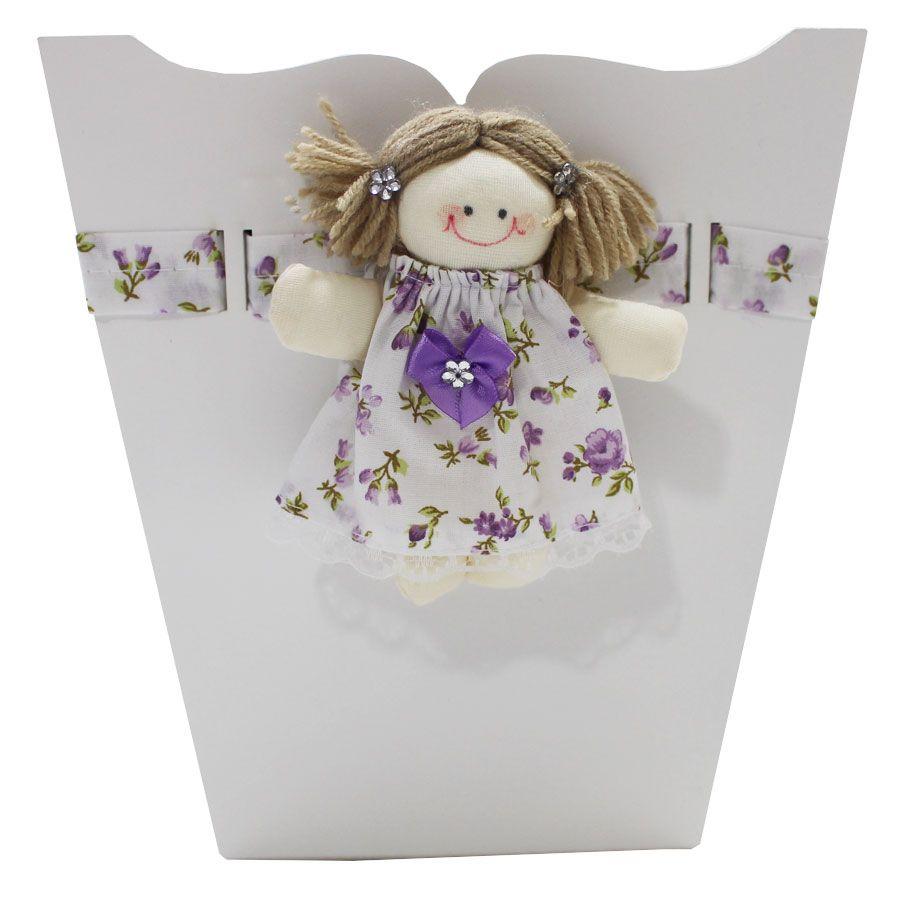 Kit Higiene do Bebê - Boneca Floral Lilás