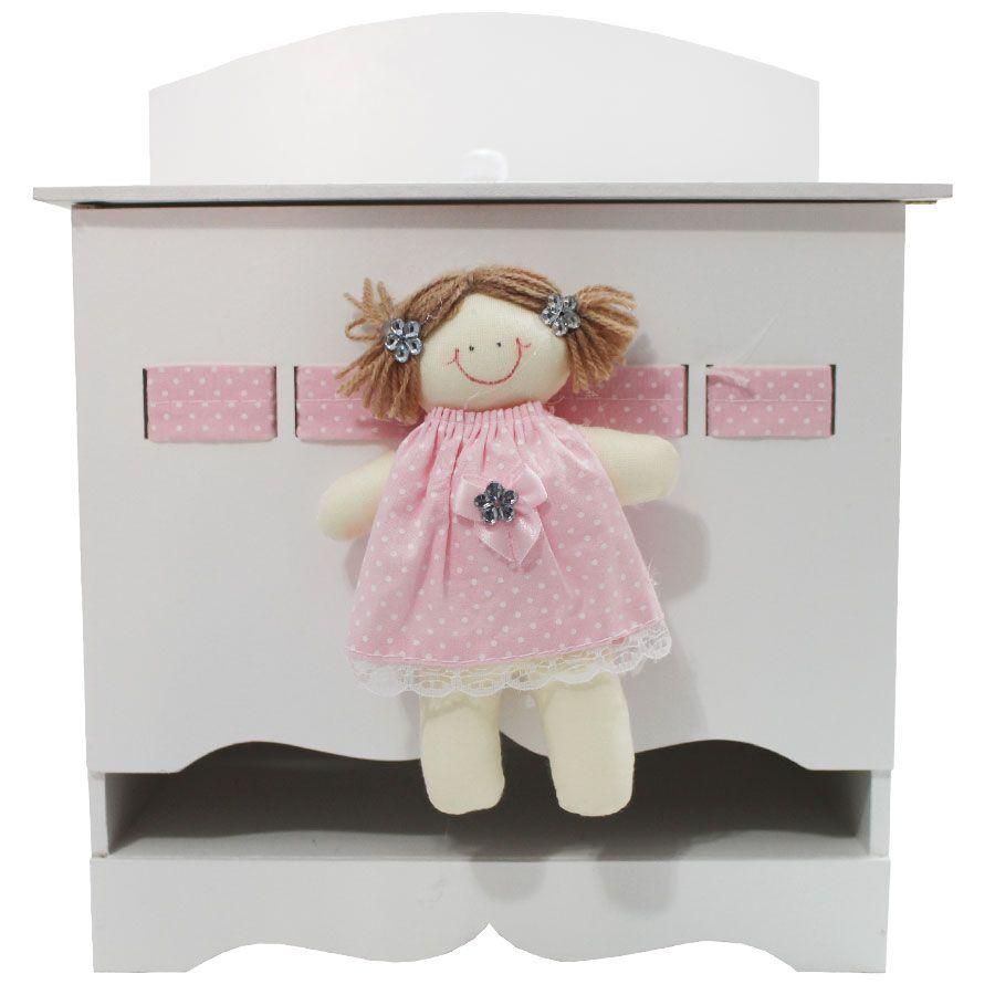 Kit Higiene do Bebê - Boneca Poá Branco