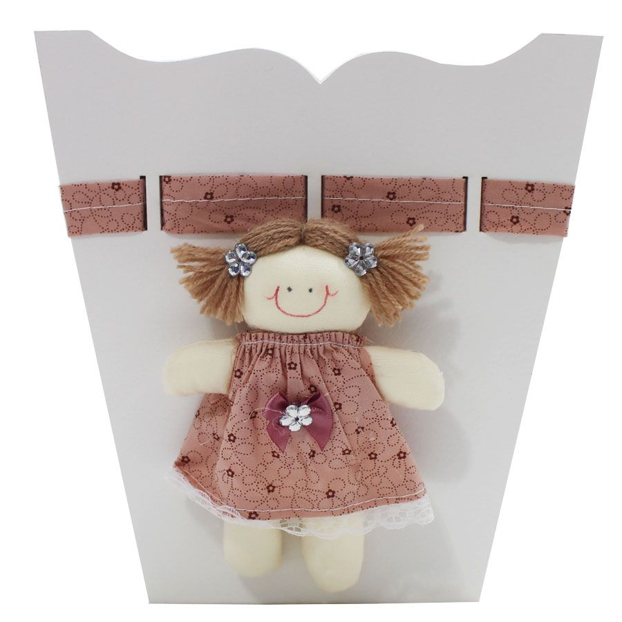 Kit Higiene do Bebê - Boneca Rose Com Marrom