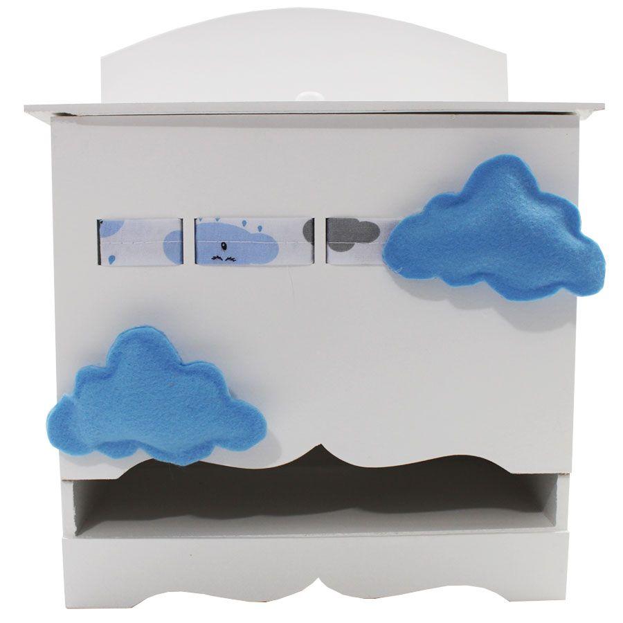 Kit Higiene do Bebê - Nuvem Azul e Cinza