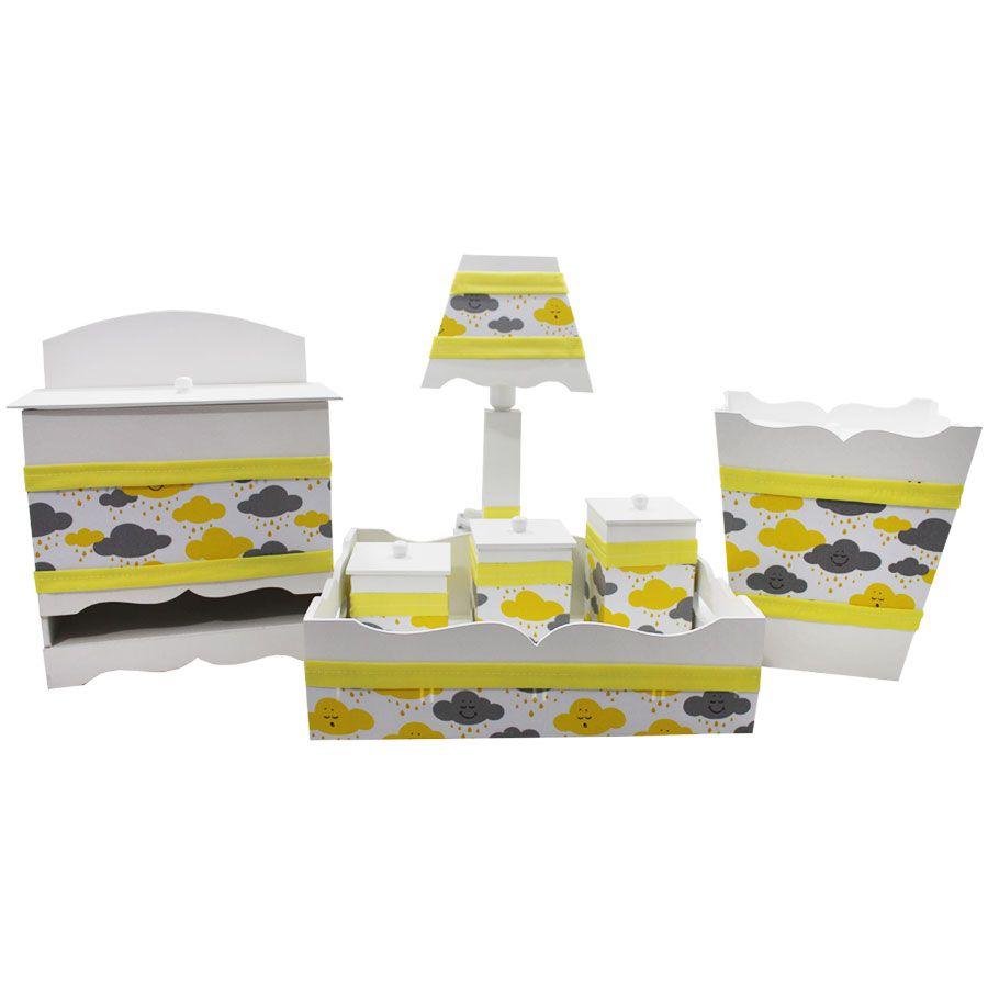 Kit Higiene do Bebê - Nuvens