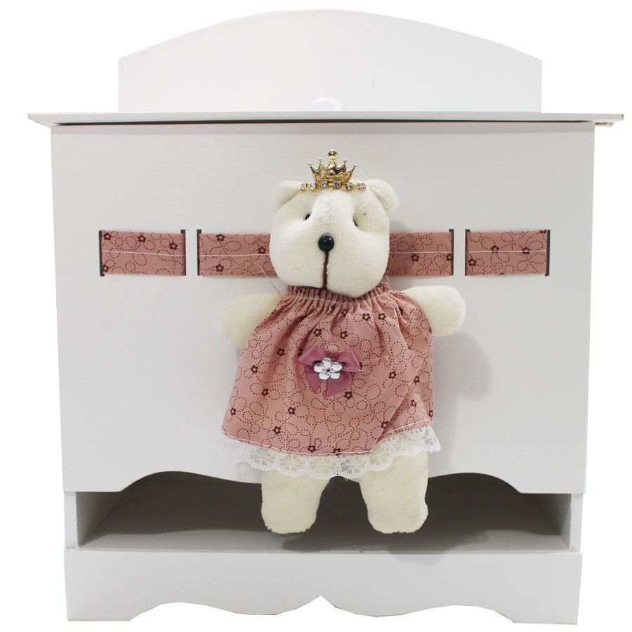 Kit Higiene do Bebê - Ursa Rose Com Marrom