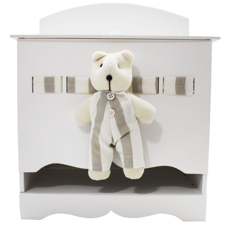 Kit Higiene do Bebê - Urso Listra Bege