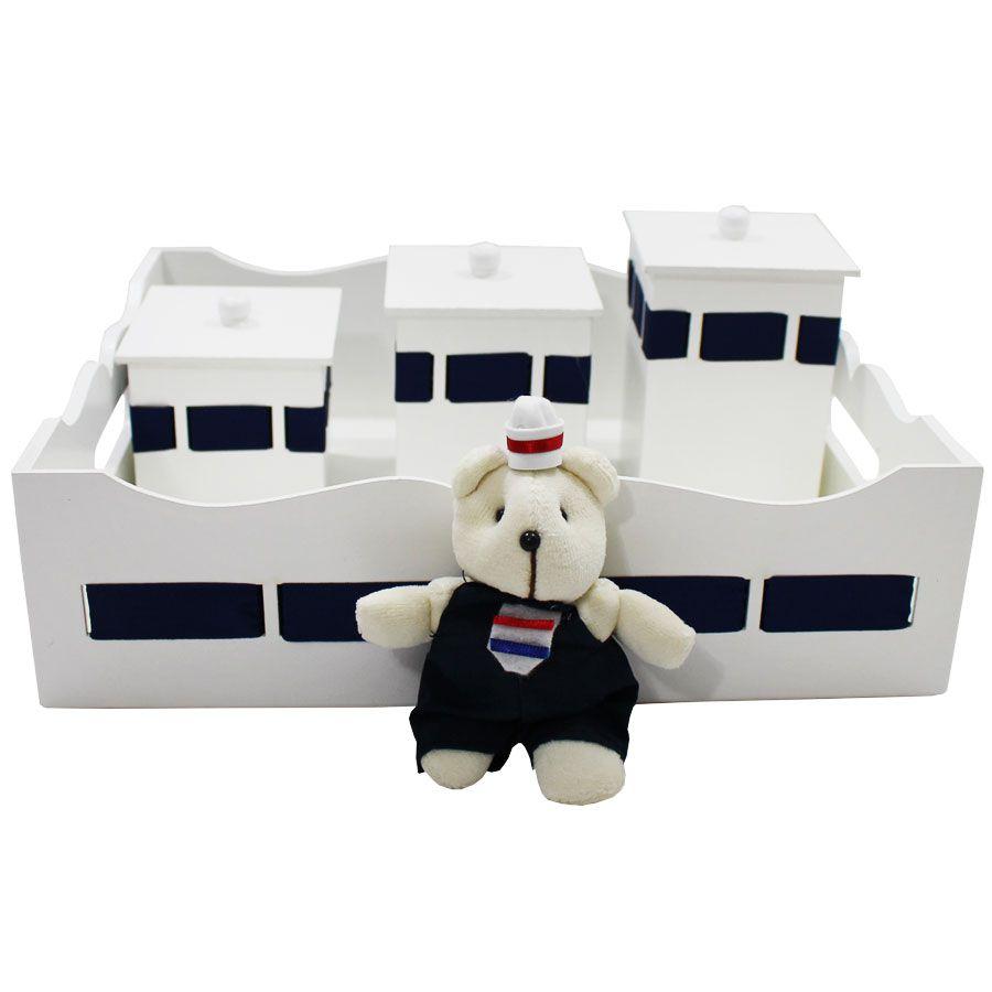 Kit Higiene do Bebê - Urso Marinheiro