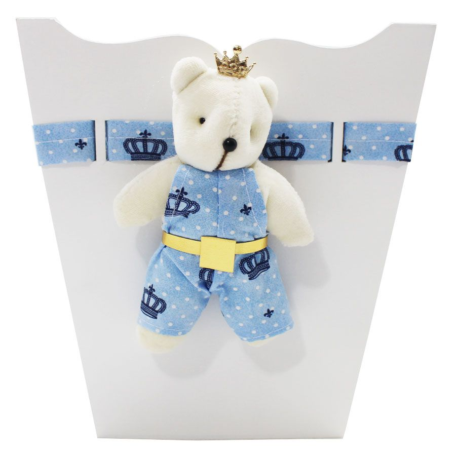 Kit Higiene do Bebê - Urso Poa Azul Coroa