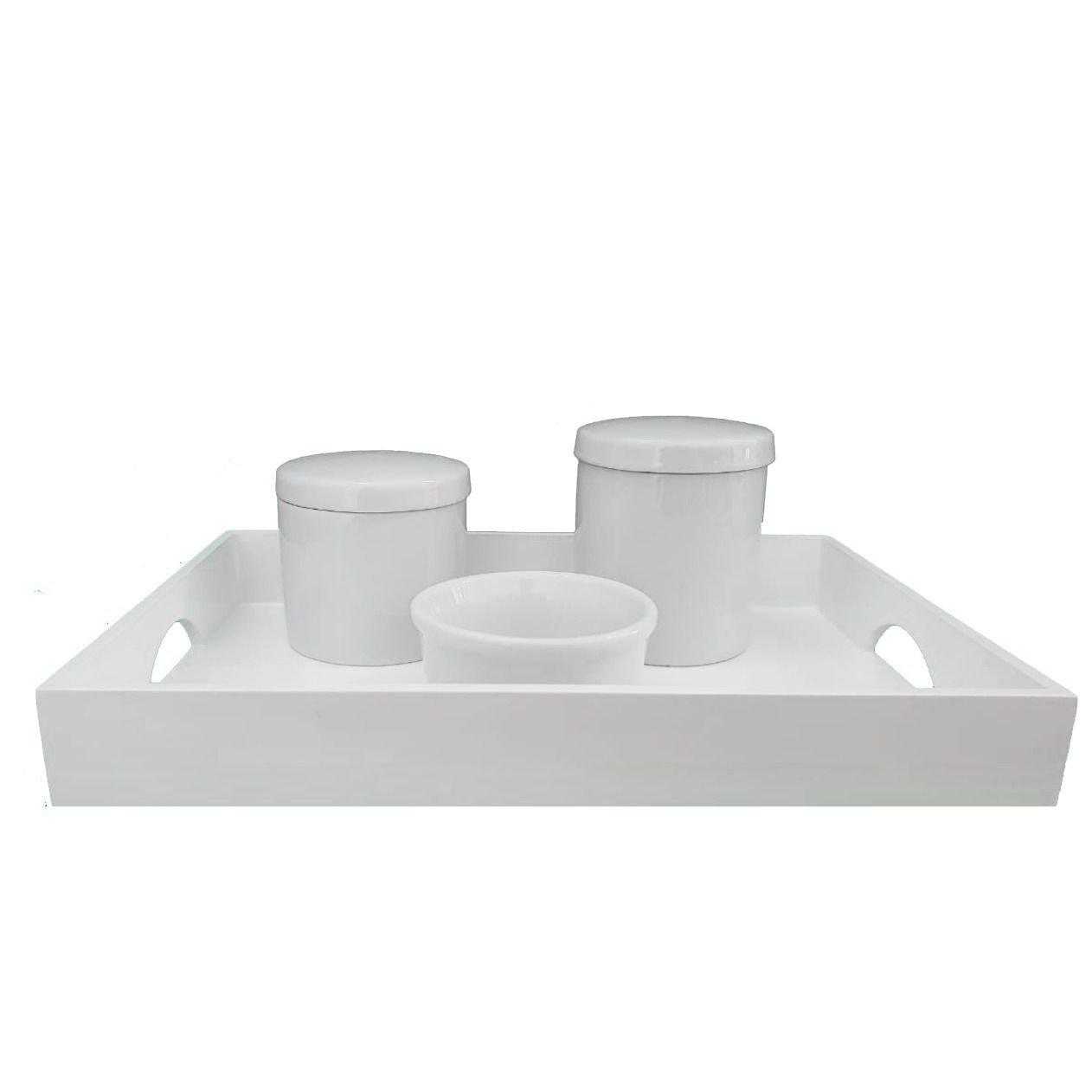 Kit Higiene Porcelana Branca Decoração Quarto de Bebê Promoção