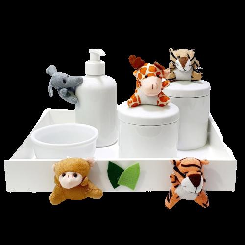 Kit Higiene bebê Porcelana Safari menino