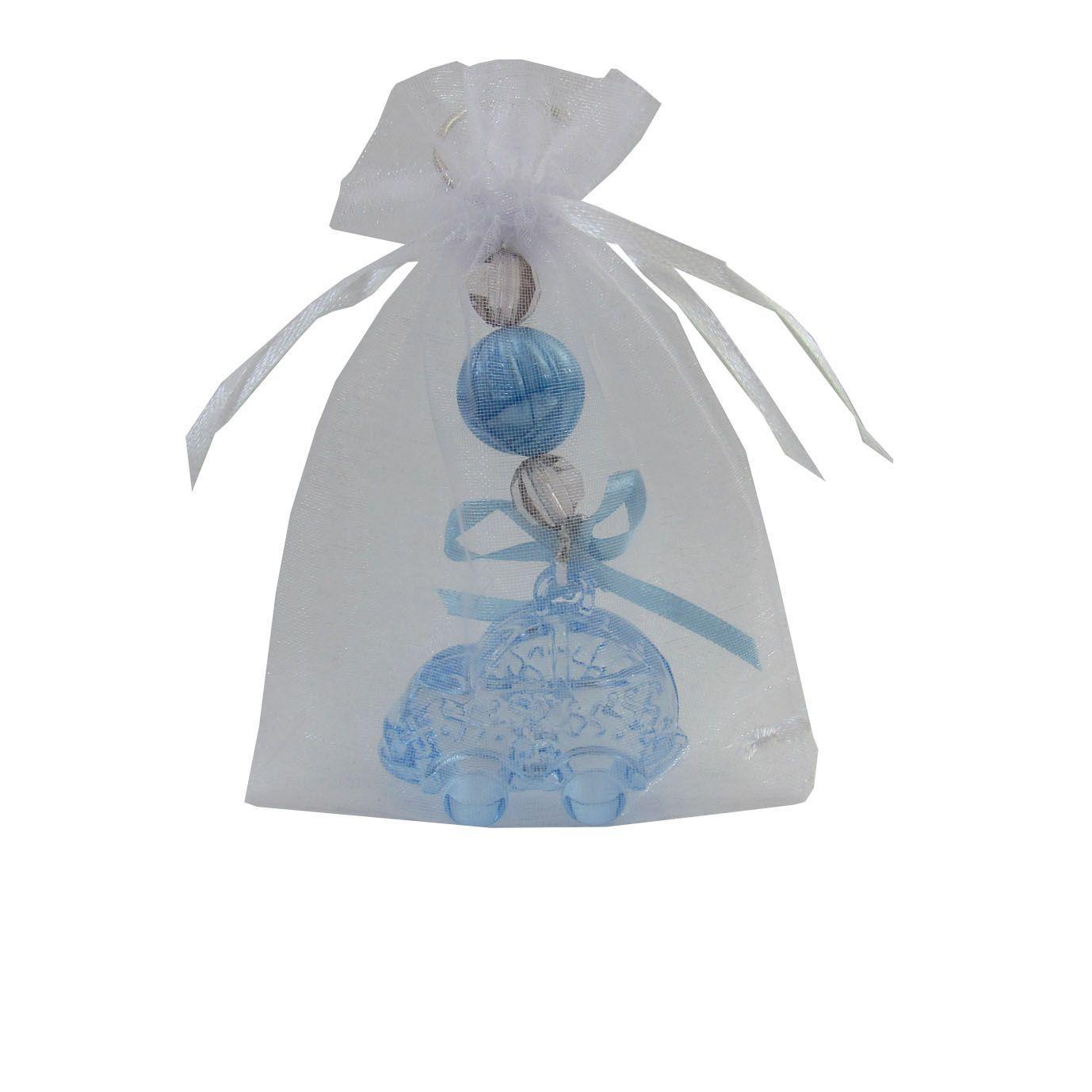30 Lembrancinhas de Maternidade  Chaveiro Carrinho Acrílico - Acompanha Organza